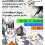 """Causerie sur """"Le récit de vie"""" à La Longère à Mordelles"""